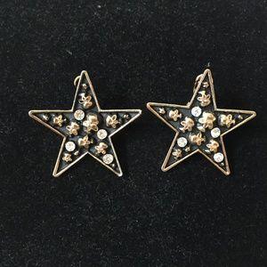 Skull & Diamond Star Earrings
